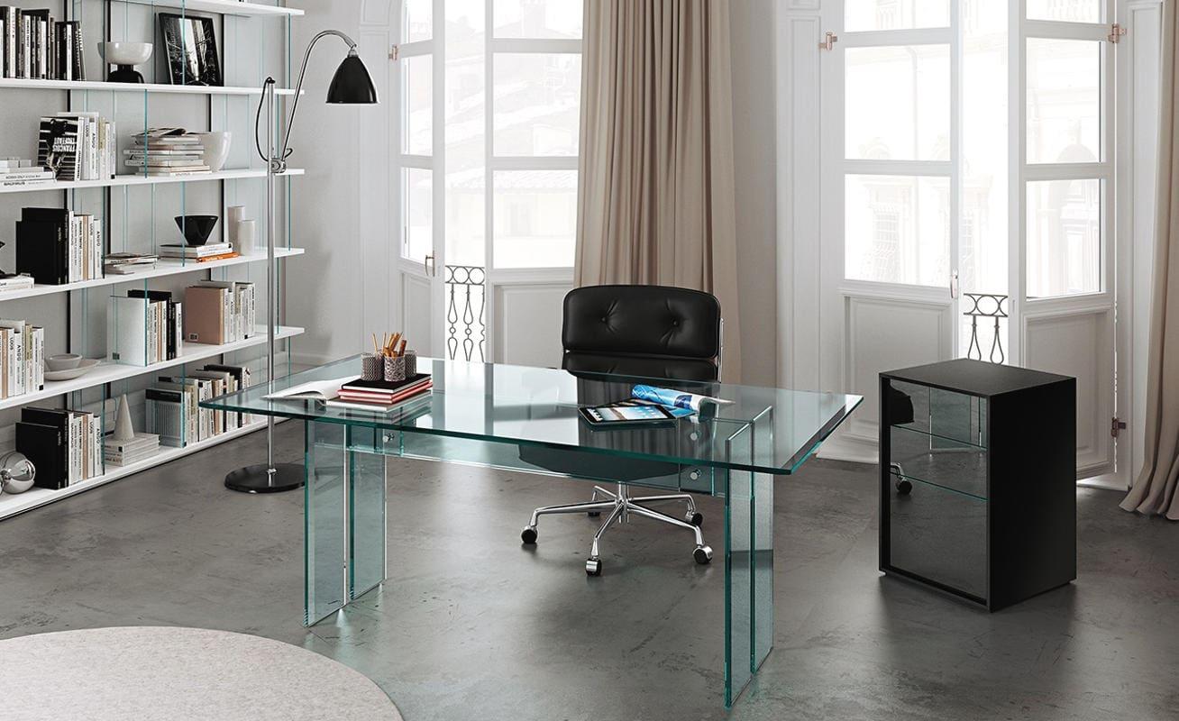 FIAM LLT home Office scrivania vetro gallery 2