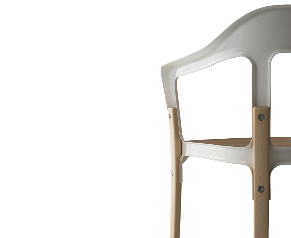 MAGIS Steelwood sedia gambe legno dettaglio