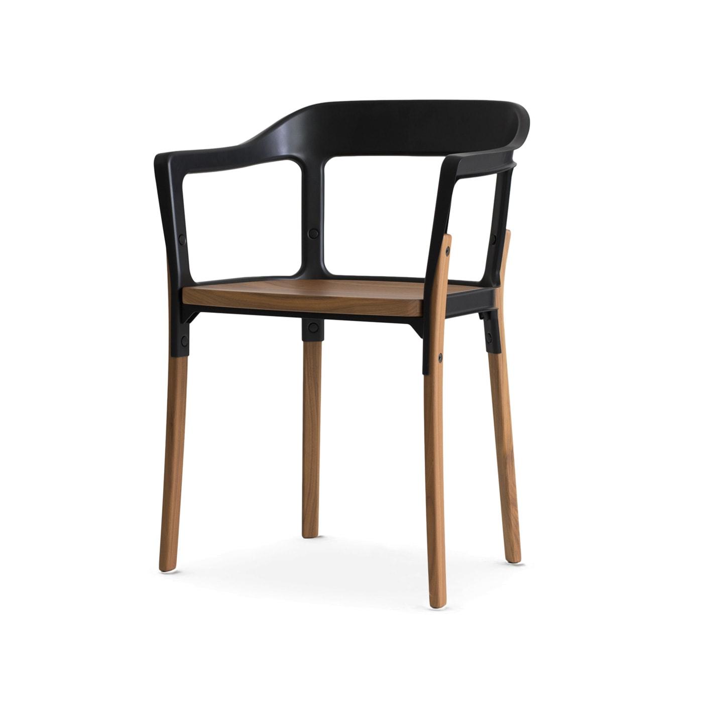 MAGIS Steelwood sedia gambe legno