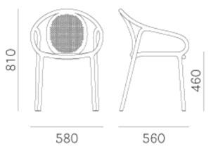 sedia Remind 373 - dimensioni