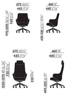Grand Executive poltrona ufficio - dimensioni