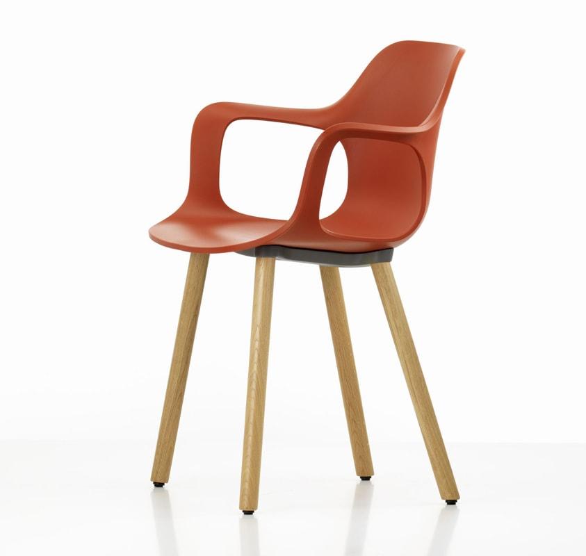 HAL Armchair Wood sedia gambe legno