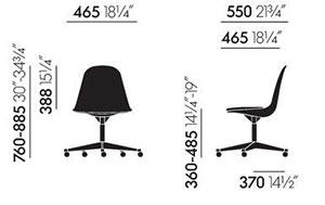 Vitra Eames Plastic Side Chair PSCC - dimensioni