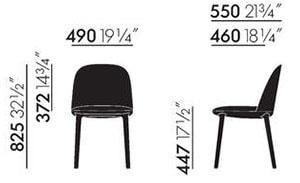Vitra Softshell Side Chair sedia - dimensioni