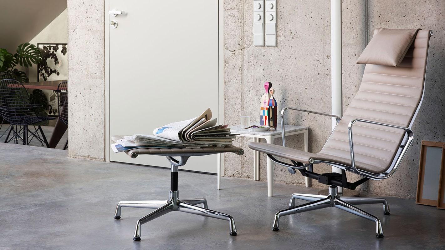 VITRA Aluminium loungechair EA124 gallery 1