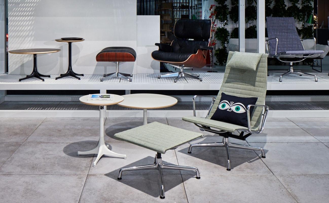 VITRA Aluminium Chair ottoman EA124 - EA125 gallery 2