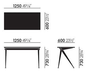 Compas Direction scrivania - dimensioni