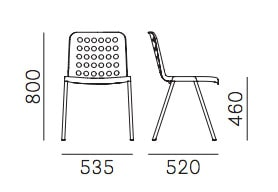 Pedrali Koi-Booki sedia