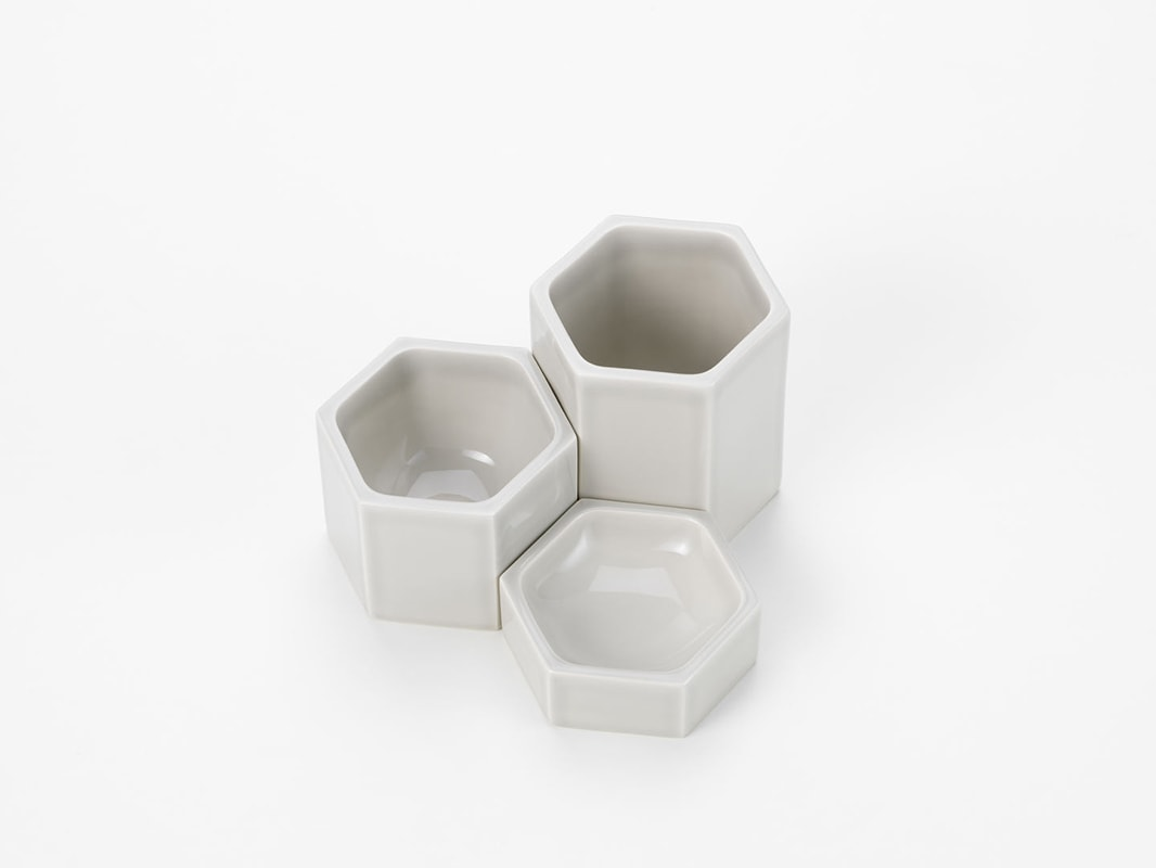 Hexagonal Containers set 3 pezzi