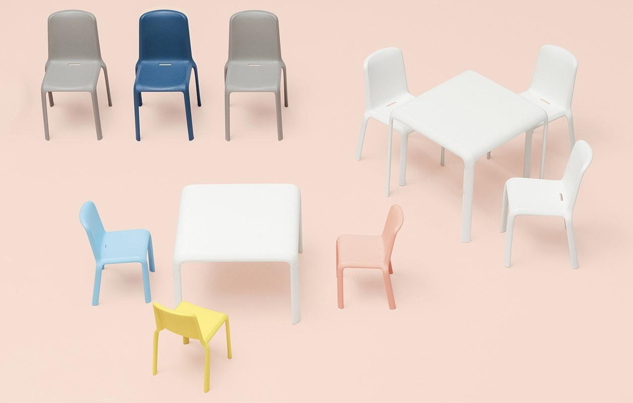 PEDRALI Snow Junior tavolo sedia bambini gallery