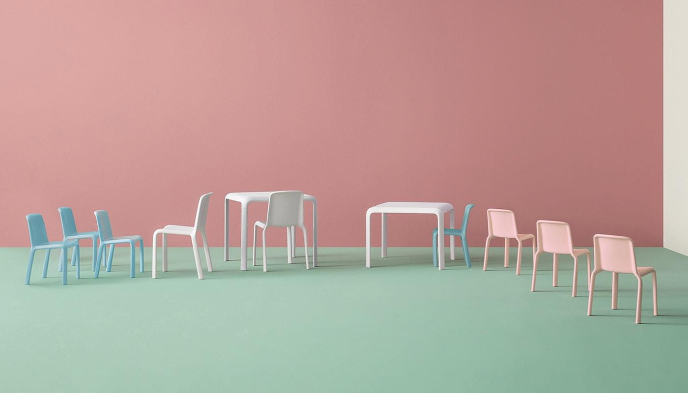PEDRALI Snow Junior tavolo sedia bambini gallery 2