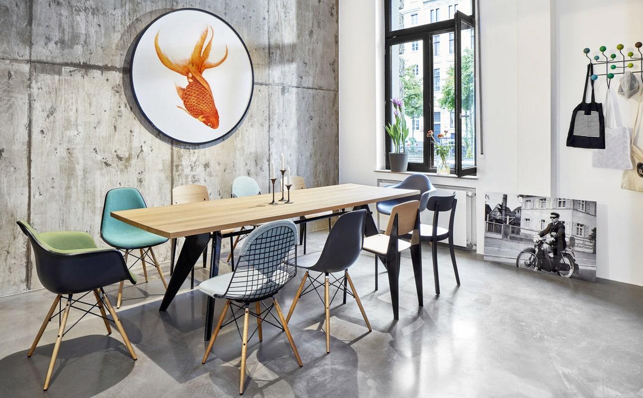 VITRA EM-Table tavolo DSW DKR sedie gallery3
