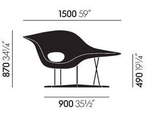 Vitra La Chaise dimensioni