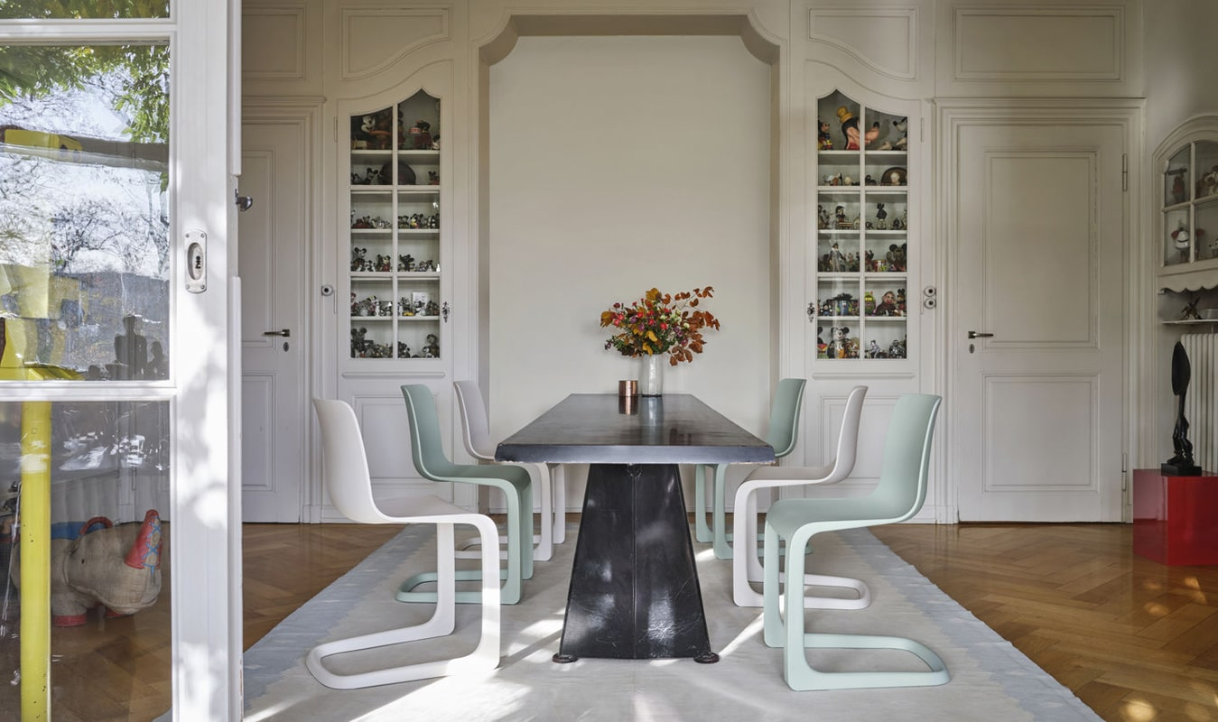vitra evo-c seduta e trapezee tavolo - vendita online gallery