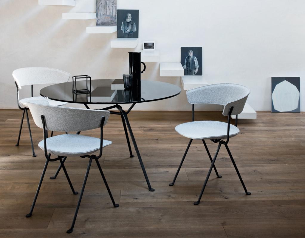 Magis Officina tavolo in cristallo e ferro - gallery