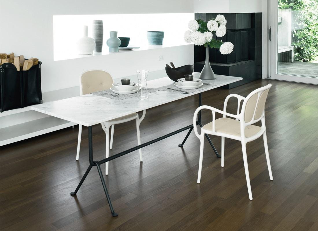 Magis Officina tavolo in marmo e ferro - gallery
