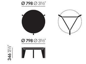 Vitra Guéridon Bas tavolino - dimensioni