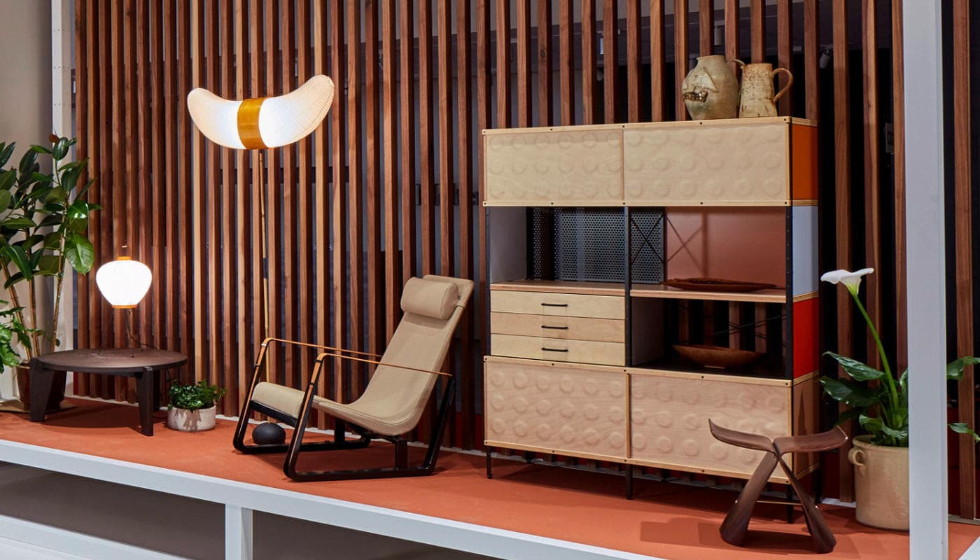 VITRA Eames Storage bookcase Akari butterlfy gallery3