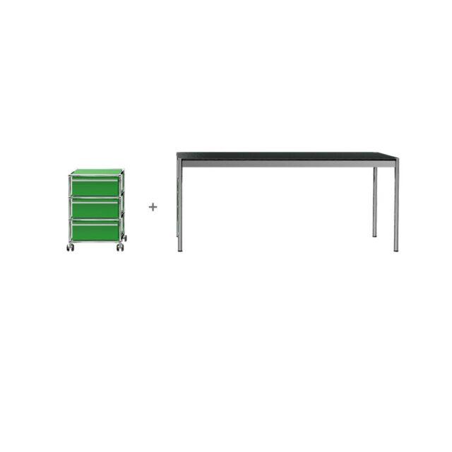 USM HomeOffice 03 Haller tavolo cassettiera