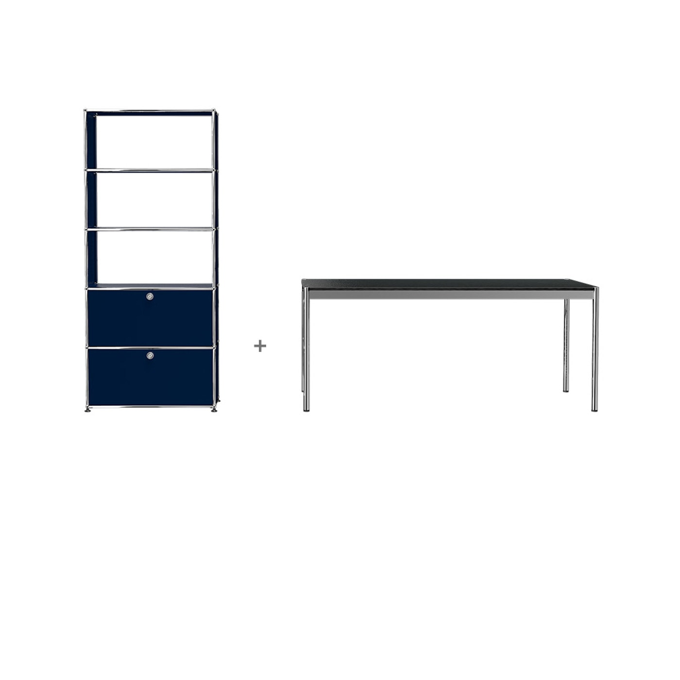 USM HomeOffice 04 Haller tavolo contenitore libreria con ante