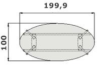 Herman Miller Abak tavolo ovale dim