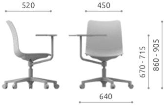 College sedia girevole per scuole