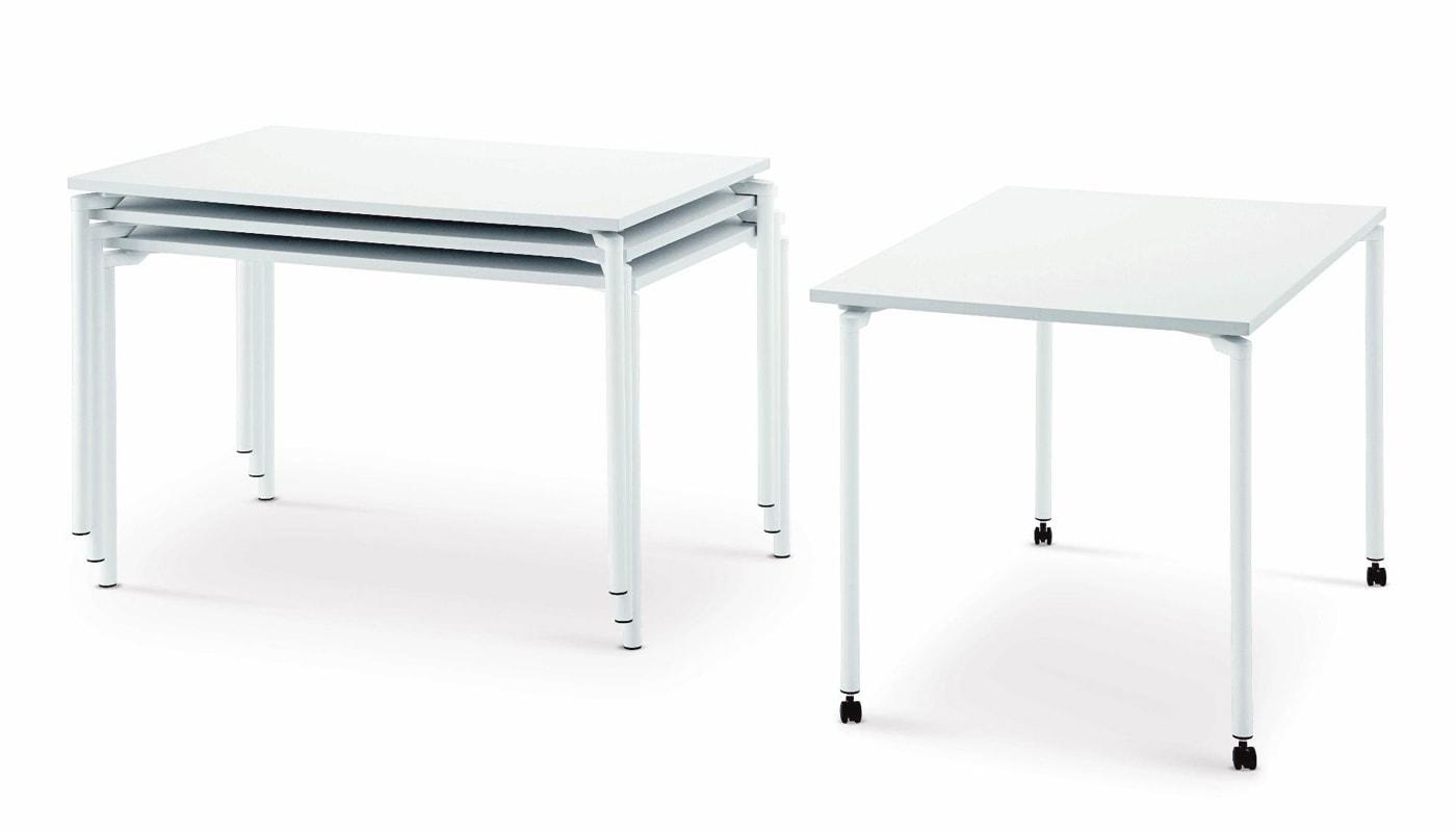 Della Chiara Leg04 tavolo con ruote impilabile gallery 3