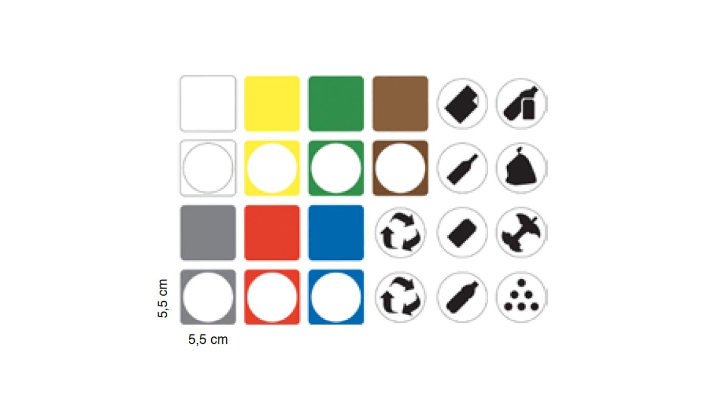 CAIMI Centrolitri cestino raccolta differenziata gallery etichette