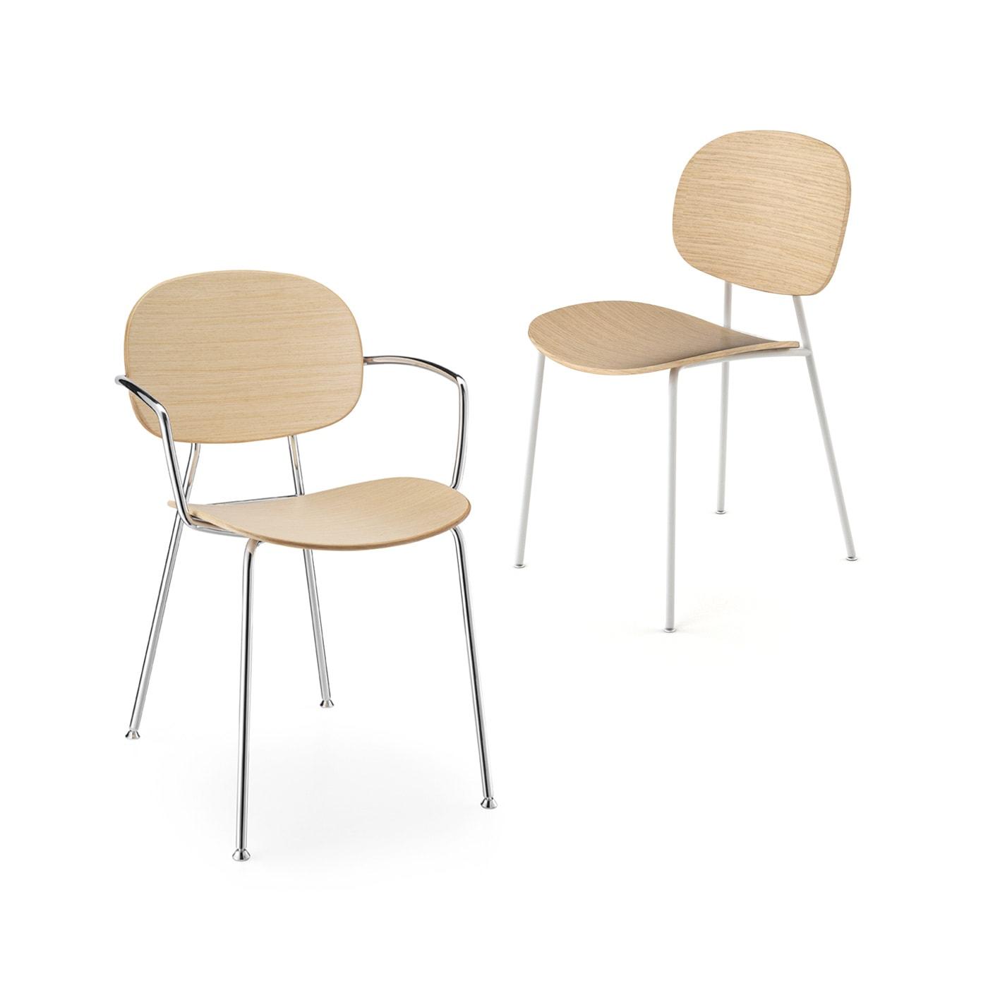 INFINITI Tondina 4Legs sedia scocca legno
