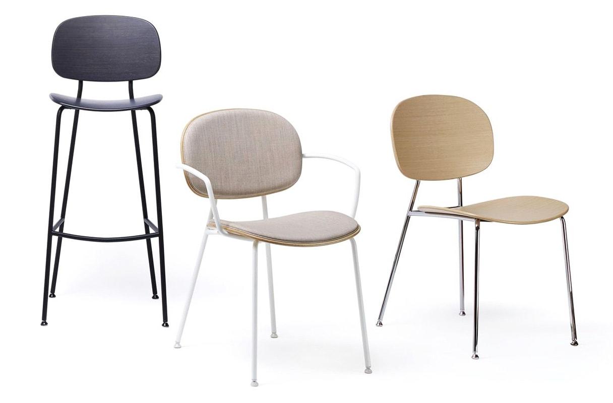 INFINITI Tondina 4Legs sedia scocca legno gallery 5