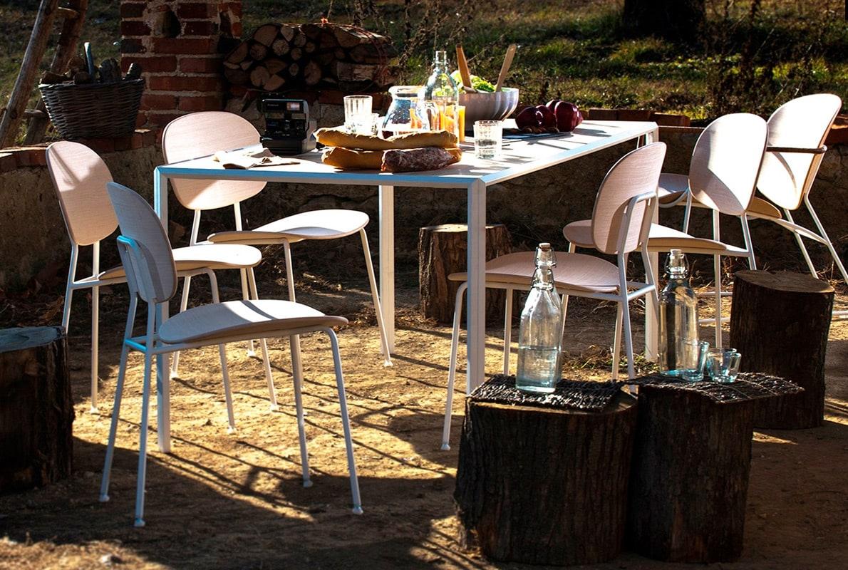 INFINITI Tondina 4 Legs sedia scocca legno gallery 6