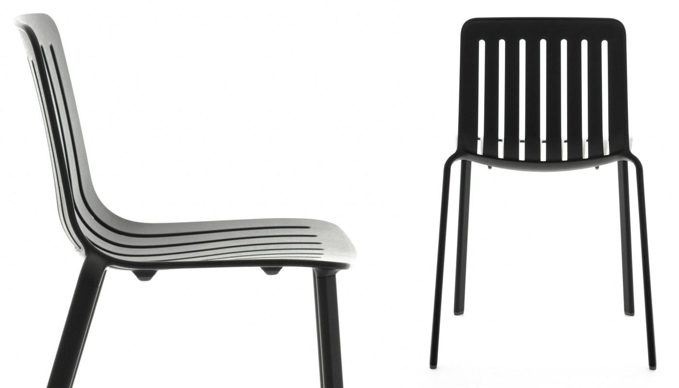 MAGIS Plato sedia alluminio nera gallery