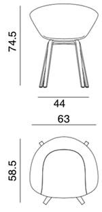 Duna 02 poltroncina - dimensioni