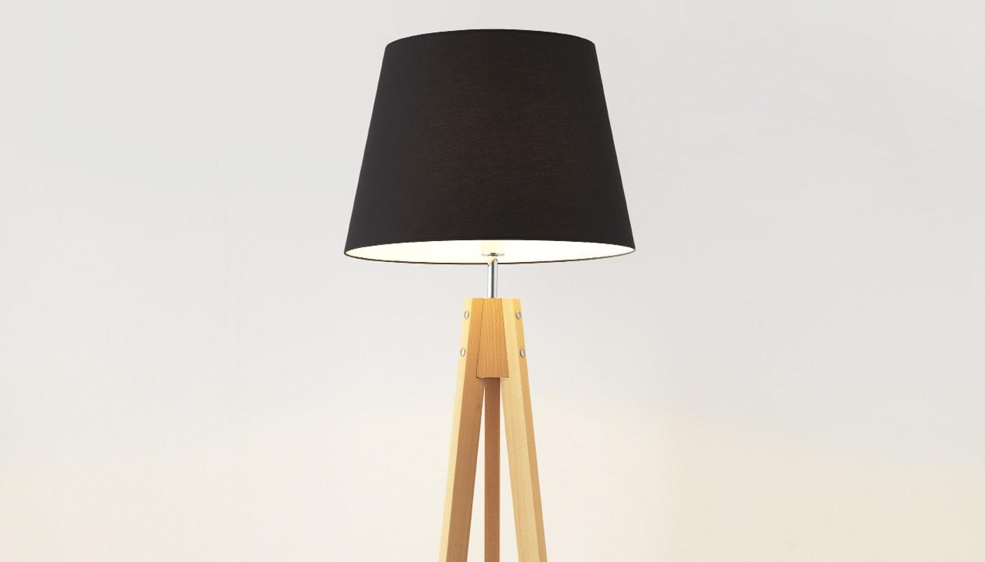 AROMAS del CAMPO TRIP lampada da terra gambe in legno dettagli