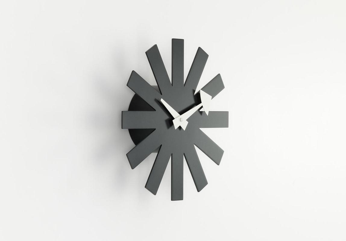VITRA Asterisk Clock orologio parete nero gallery