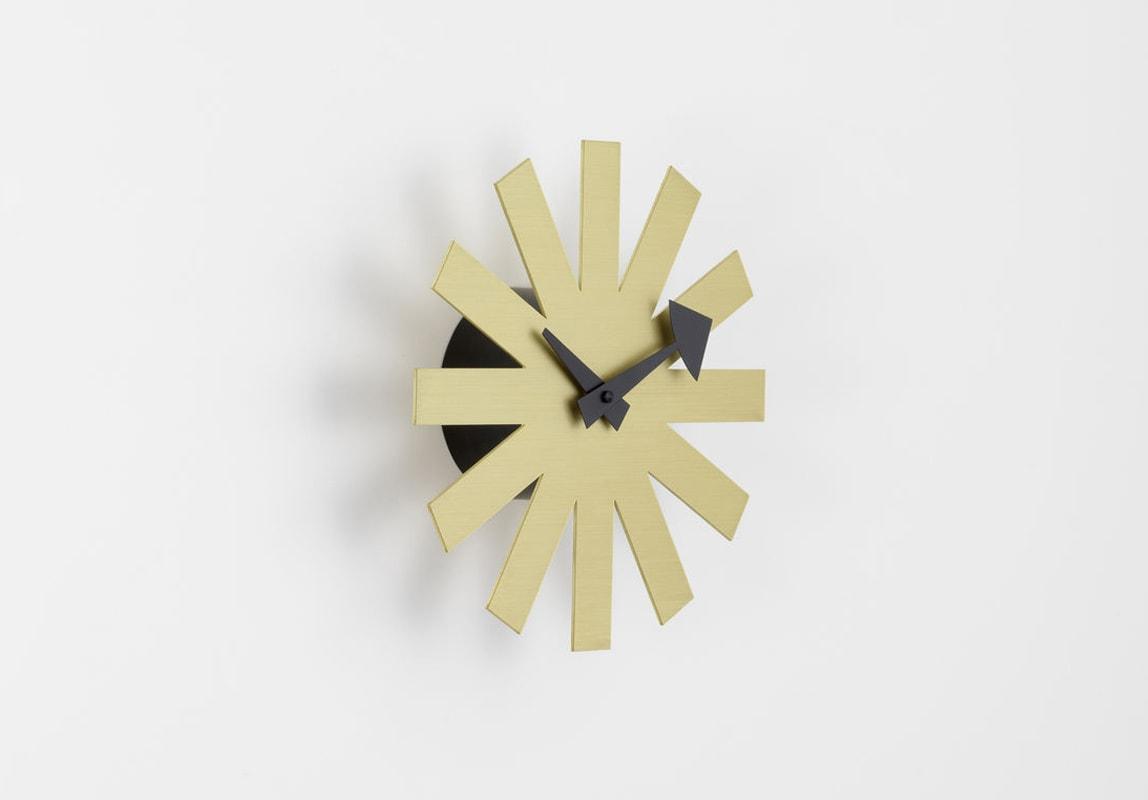 VITRA Asterisk Clock orologio parete ottone gallery