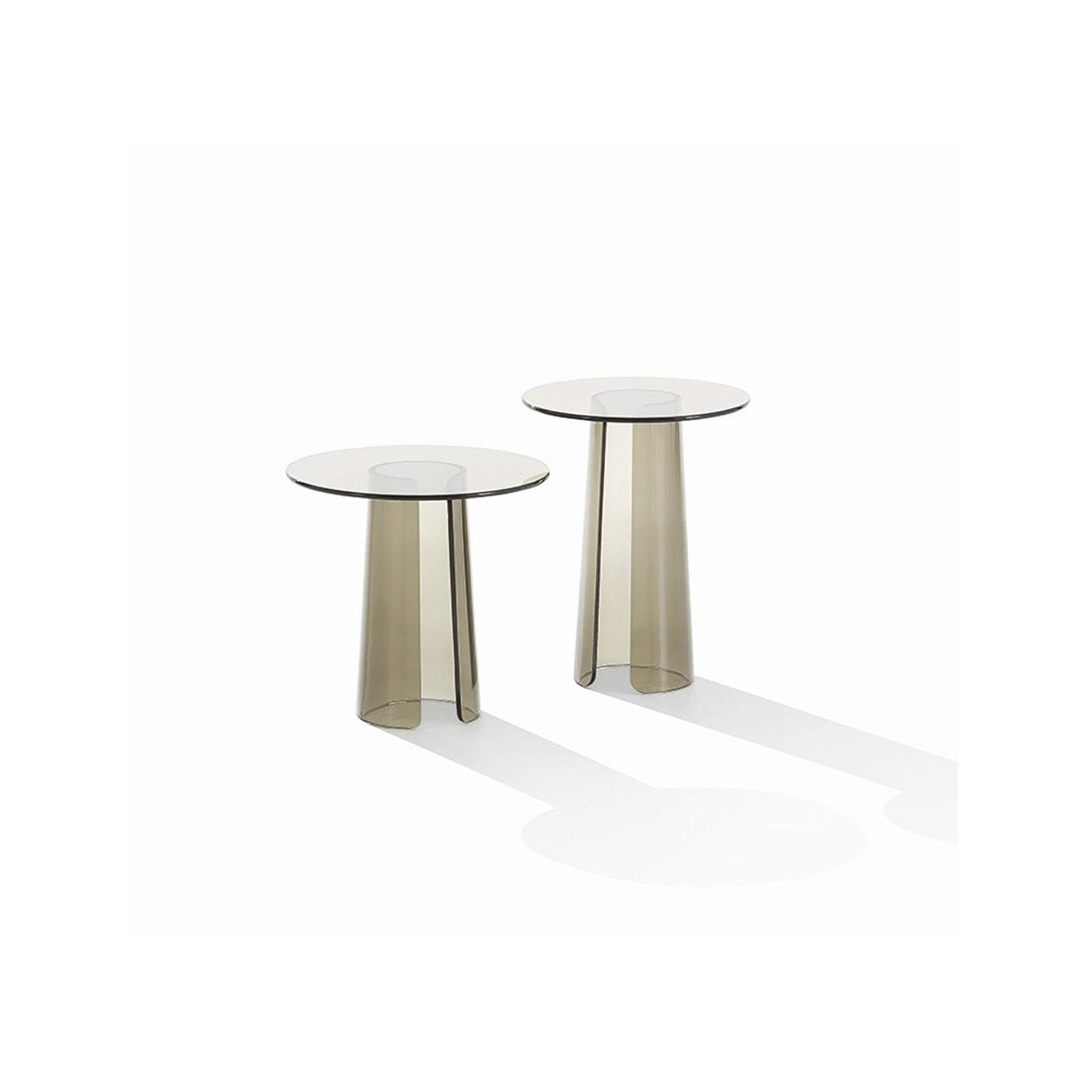 poliform orbit tavolino in vetro