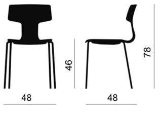 Della Chiara Split sedia per scuole - dimensioni