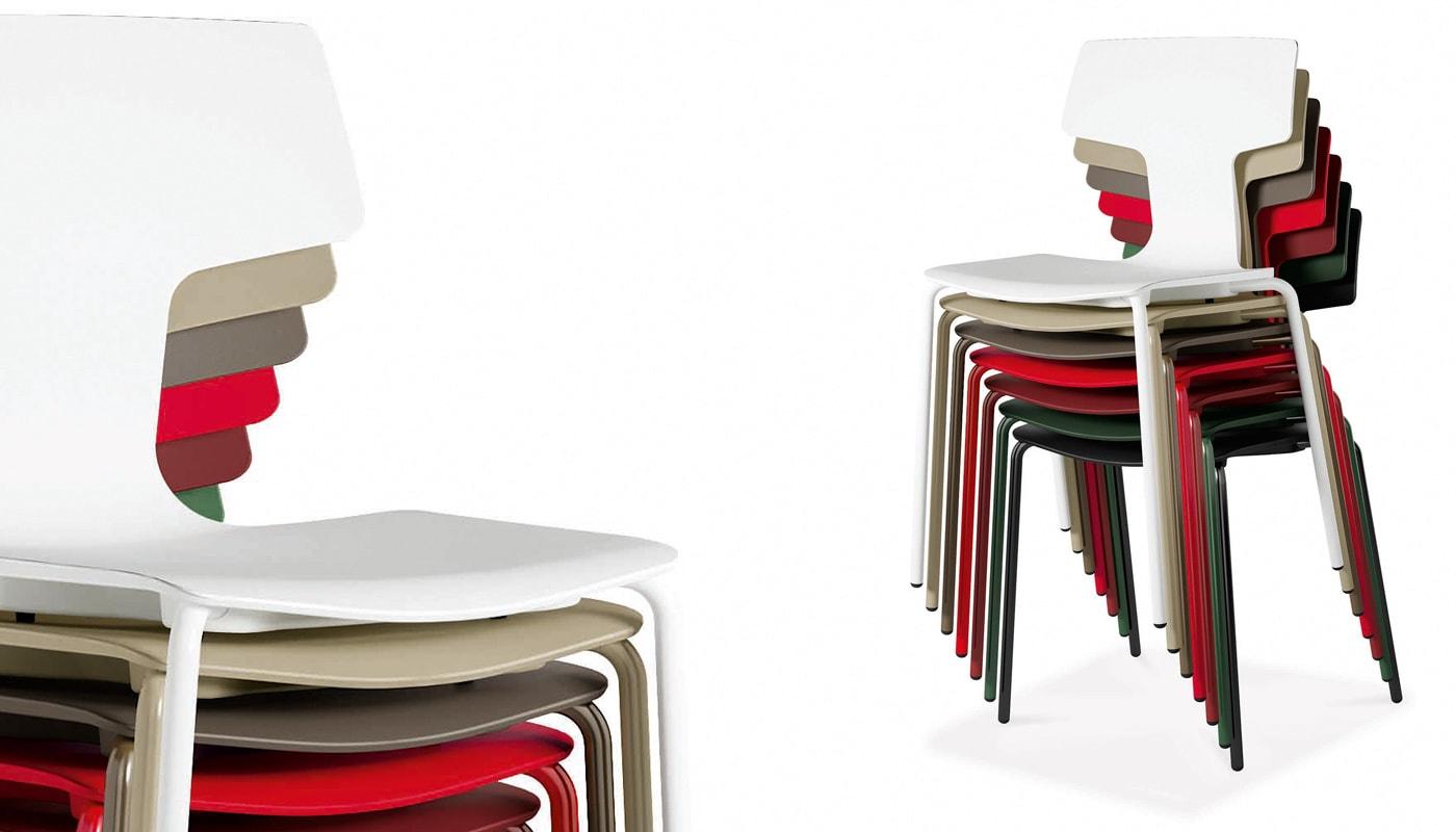 Della Chiara Split Education seduta impilabile - gallery 4