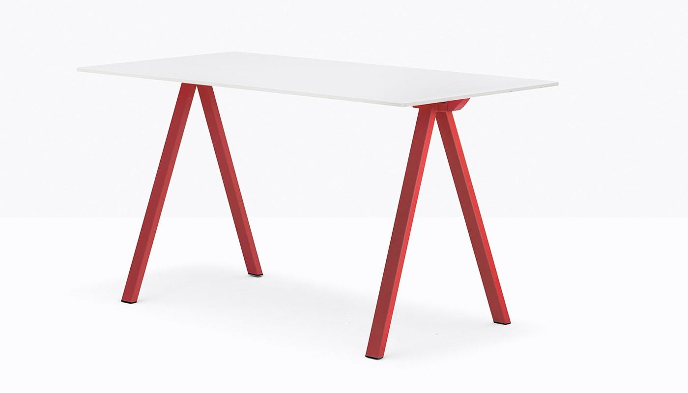 Pedrali ArkiDesk tavolo gambe rosse - gallery