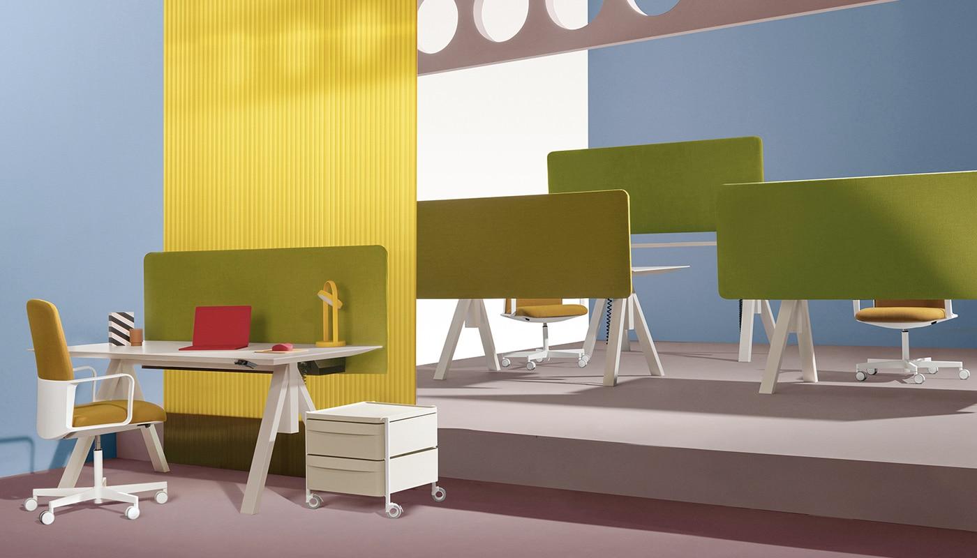Pedrali Arki-Table Desk tavolo altezza regolabile - gallery