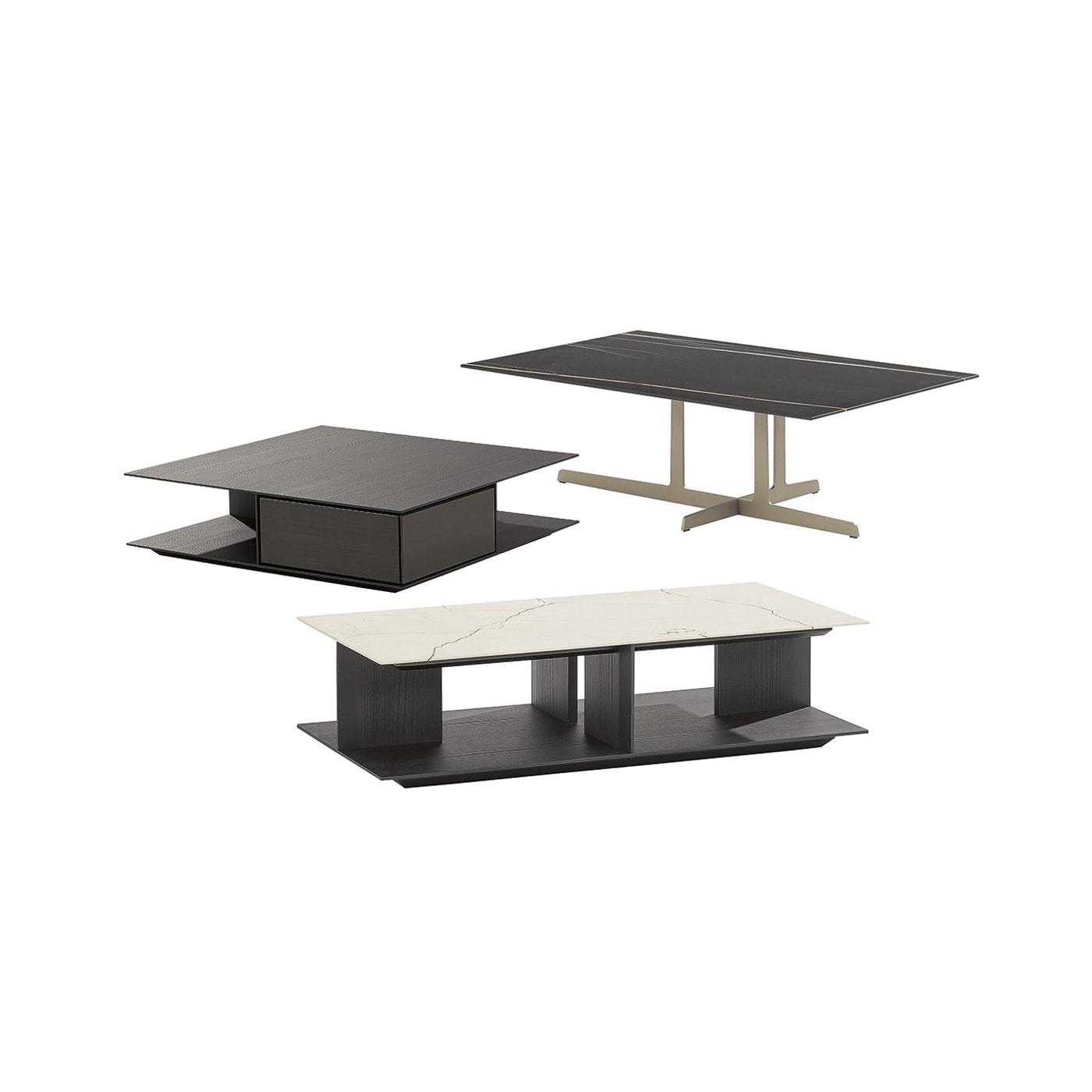 Poliform Westside tavolino in legno oppure marmo vendita online sullo shop dellachiara.it