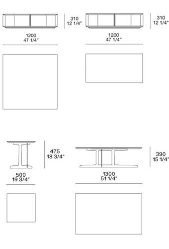Poliform Tavolini Westside dimensioni