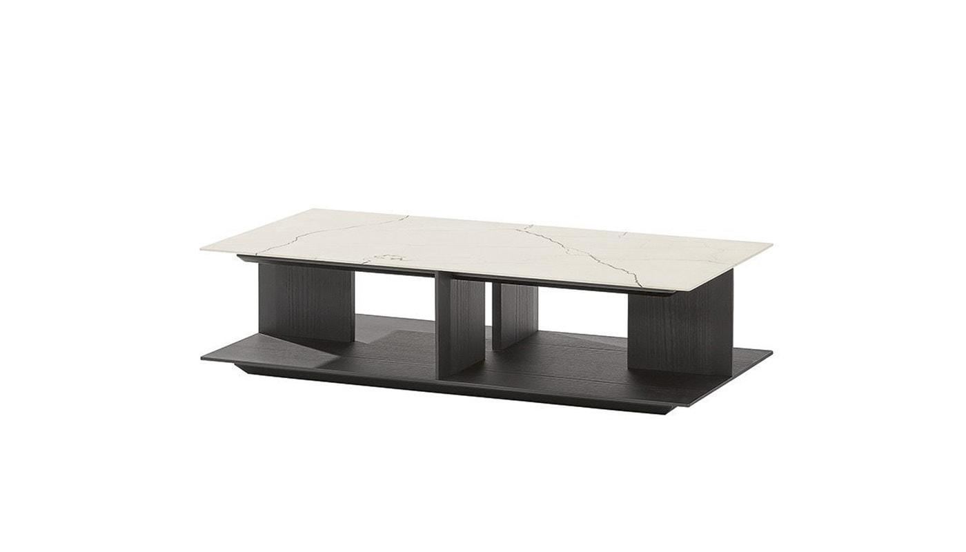 Poliform Westside tavolino base legno gallery01