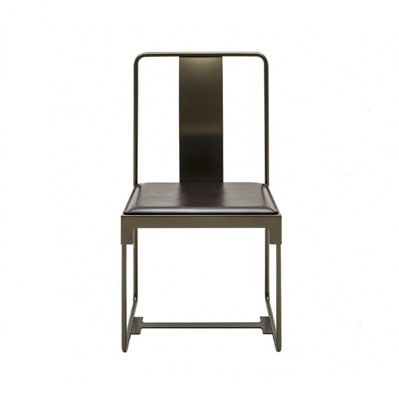 Driade Mingx sedia in acciaio e cuoio - shop online