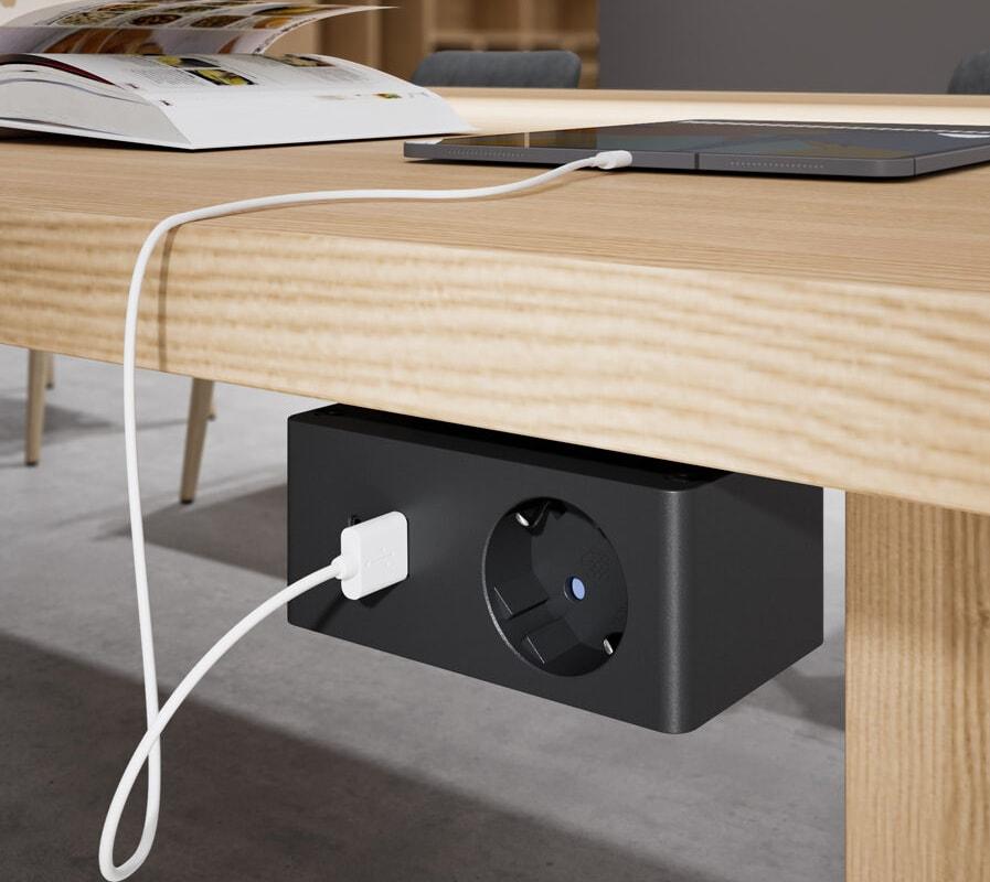 Della Chiara VersaQ presa Schuko, USB per scrivania - gallery