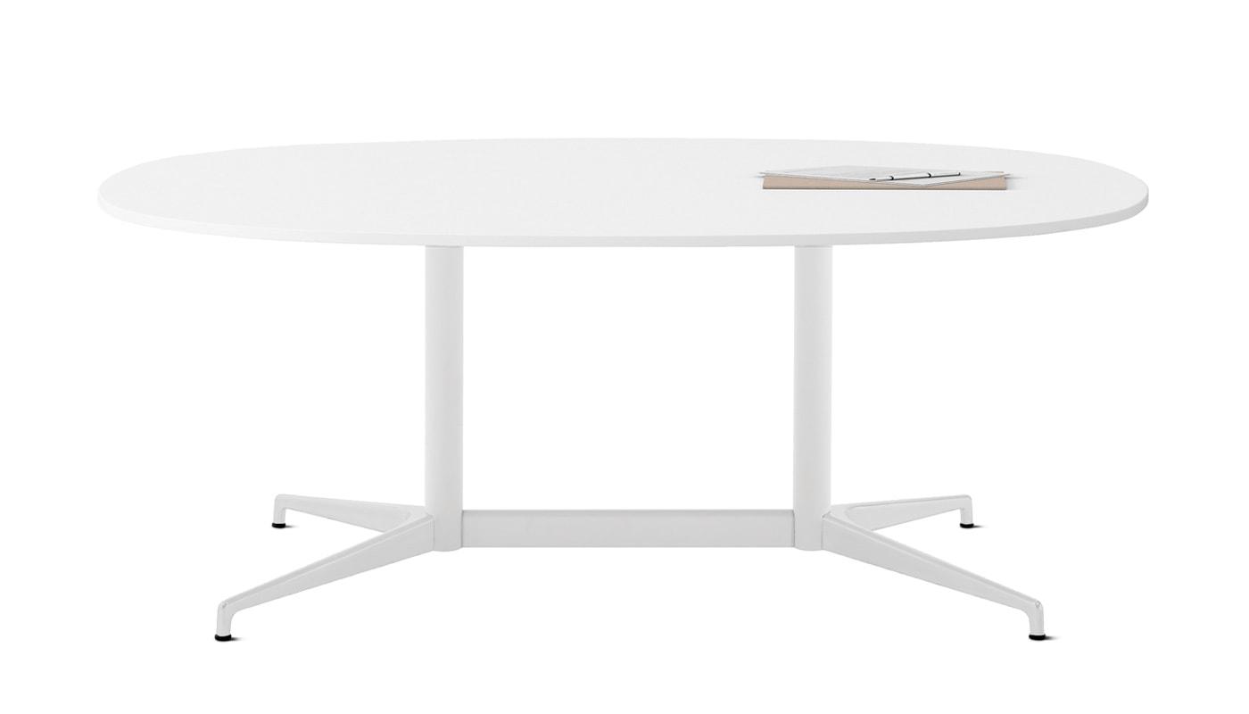 Herman Miller Civic tavolo bianco ovale - gallery5