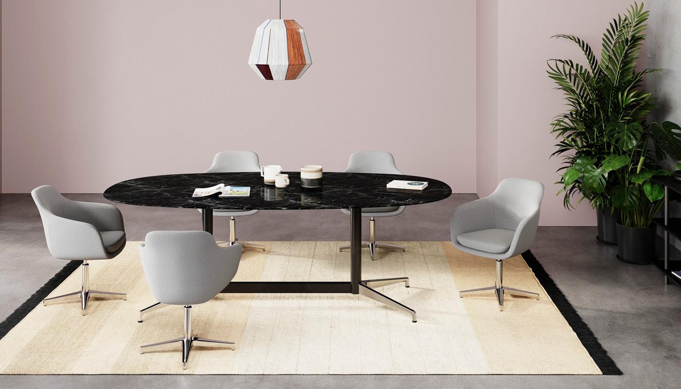 Herman Miller Civic tavolo ovale per riunioni - gallery