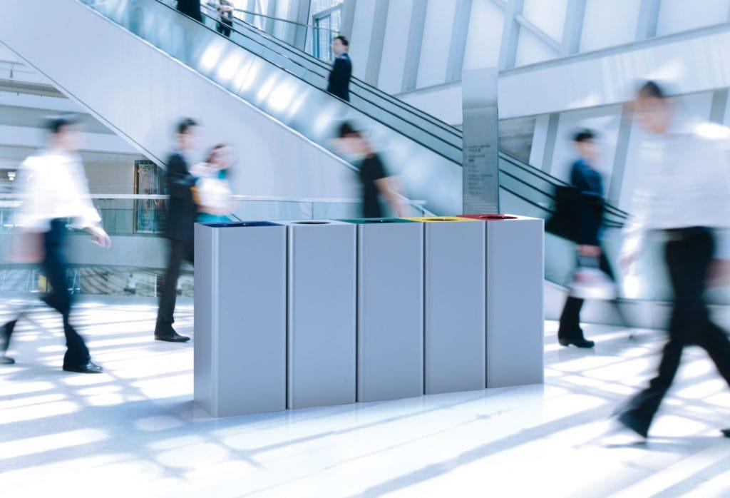 Scegliere contenitori raccolta differenziata ufficio