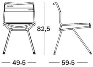 Zanotta Dan 2057 sedia - dimensioni